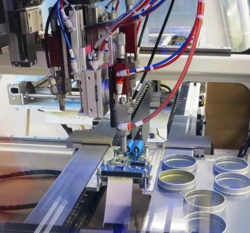 Printed Circuit Assembly automated conformal coating in our NY production line at VMA