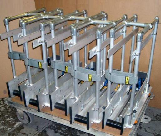 Handling mechanisms for heavy amplifiers