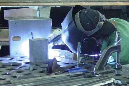 Tig welding of 18 steel brackets