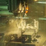 Complicated forgings being machined