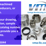 Custom Machined Couplings, reducers, fittings, and turned connectors…